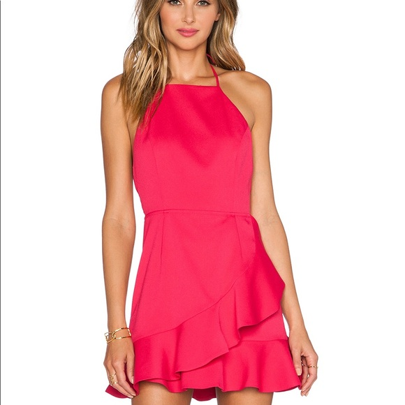4c90b1ed18a NBD hot pink ruffle dress